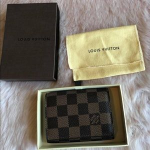 Louis Vuitton card holder with box & dustbag